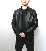Мужская куртка Eleganza из натуральной кожи. Модель GREY размер L