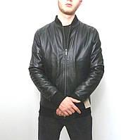 Мужская куртка Eleganza из натуральной кожи. Модель GREY размер M