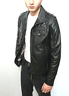 Мужская куртка Eleganza из натуральной кожи. МодельDEALER размер XXL