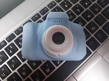 Детский цифровой фотоаппарат digital camera голубой для мальчика улучшенное качество