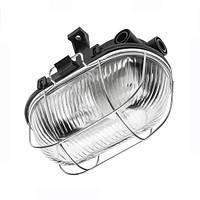 Светильник/корпус GTV, с защитной металлической решеткой Sanguesa IP54, чёрный. ПОЛЬША!