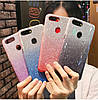 Силиконовый чехол с блестками - градиент для Xiaomi Redmi Note 8T (выбор дизайна)