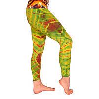 Леггинсы для йоги тай-дай, 90% хлопок, 10% эластичная лайкра, фото 2