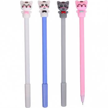 Ручка гелевая 6026 «Котик» синяя, фото 2
