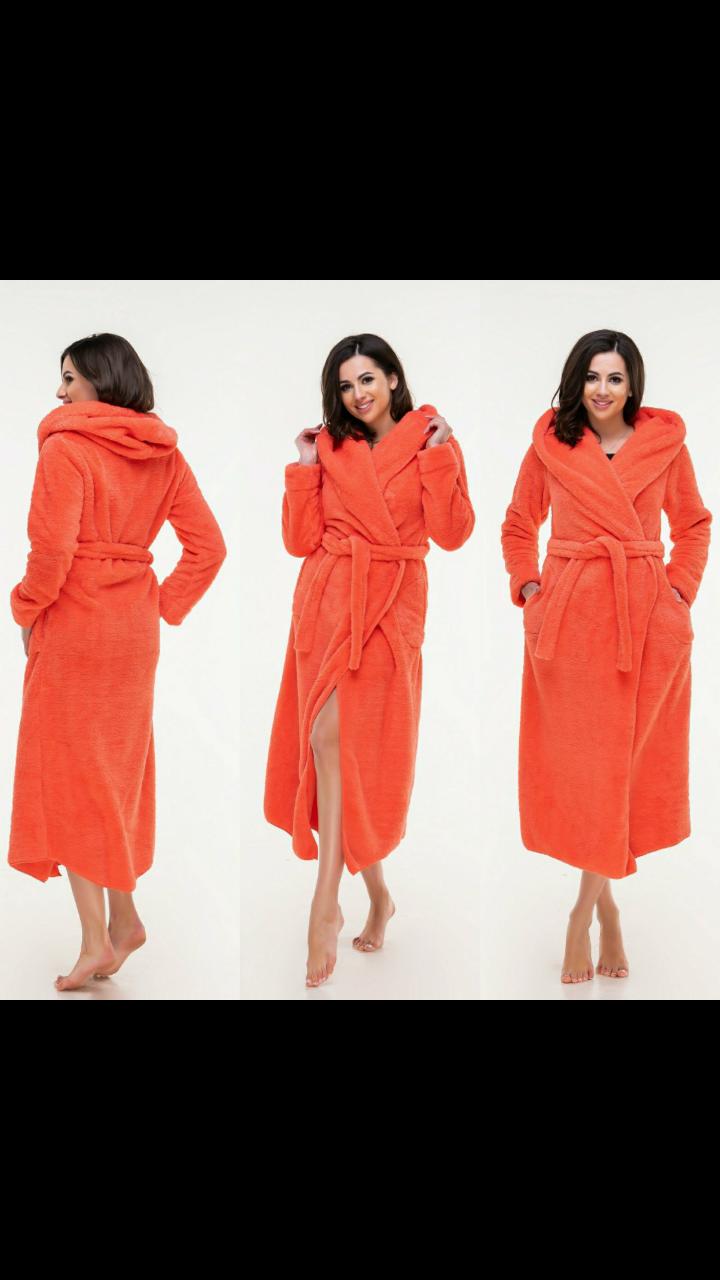 Длинный женский махровый халат 42-48 размер