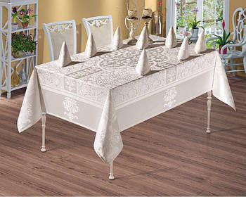 Скатерть Monalife Vip Cotton Set, салфетки 8 шт. 160*220