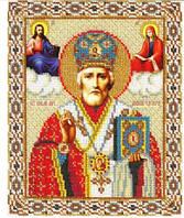 Алмазная вышивка 31*26 (Рисунок 25*21) Полная выкладка Св. Николай Угодник