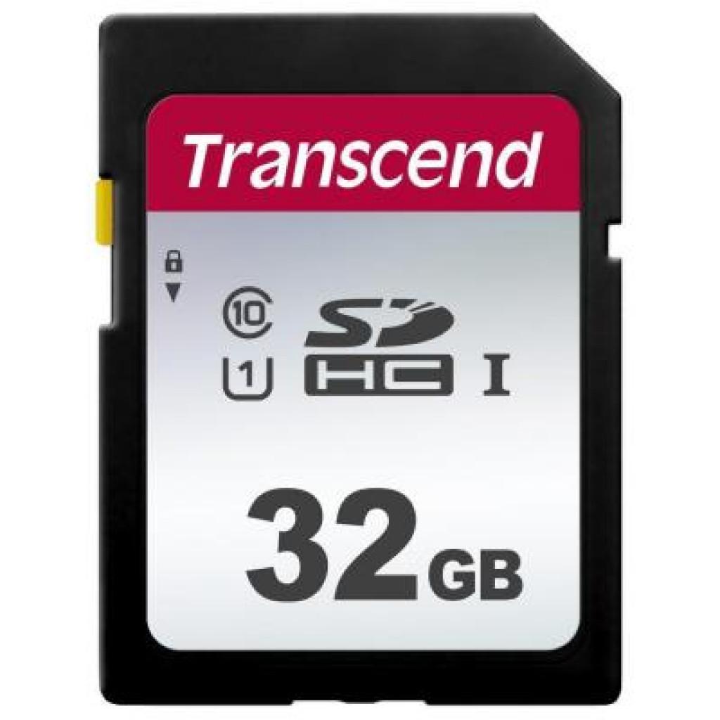 Карта памяти Transcend 32GB SDHC class 10 UHS-I U1 (TS32GSDC300S)