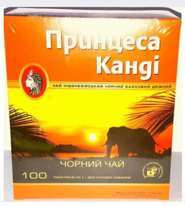 """Чай """"Принцесса Канди"""" черный байховый 100 пакетиков"""