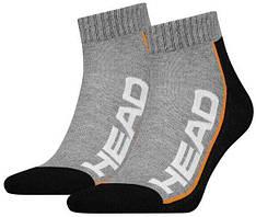 Шкарпетки Head Performance Quarter 2-pack black/gray