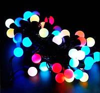 """Гирлянда новогодняя светодиодная LED - игрушка разноцветные """"лампочки"""" String Fly (32 лампочки на елку)"""