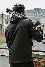 """Мужская ветровка анорак с капюшоном """"Segment"""" Intruder весна / осень черный, фото 2"""