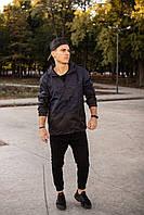"""Мужская куртка ветровка штормовка """"Anti-wind"""" синий камуфляж размер S 46 M 48 L 50 XL 52 XXL 54"""