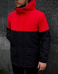 "Демисезонная мужская куртка Intruder ""Waterproof"" красно - черная в размере S (UA44/46) M (UA46/48) L (48/50)"