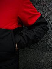 """Демисезонная мужская куртка Intruder """"Waterproof"""" красная - черная в размере S 46 M 48 L 50 XL 52, фото 3"""