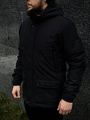 """Демисезонная мужская куртка Intruder """"Waterproof""""  черная"""