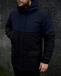 """Демисезонная мужская куртка Intruder """"Waterproof"""" сине - черная в размере S M L XL"""