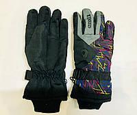 Перчатки горнолыжные мужские KINEED р.L черные/серые/принт, фото 1