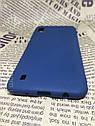 Samsung Galaxy A10 2019 (A105F) цветной матовый силиконовый ультратонкий чехол/ бампер/ накладка синий, фото 2