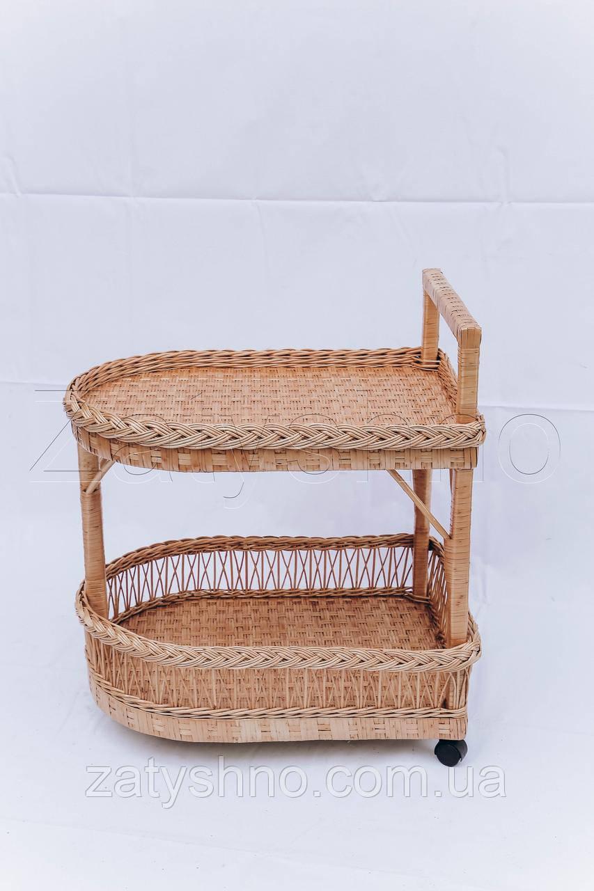 Стол-поднос плетеный | журнальный столик из лозы | столик плетёный из лозы