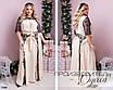Сукня молодіжне довге шифонова оздоблена гіпюром 50-52,54-56,58-60, фото 2