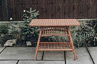 Стол кухонный плетеный | столик из лозы | столик плетёный из лозы