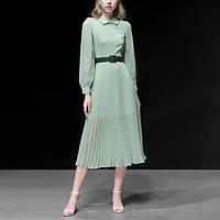 Стильное  элегантное платье в горошек