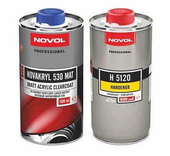 Лак акриловый матовый Novol Novakryl 530 MAT, 1,5 литров комплект