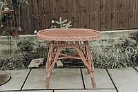 Плетеный стол из лозы прямоугольный | столик из лозы | столик плетёный из лозы