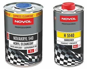 Лак акриловый бесцветный Novol Novakryl 540 SR, 7,5 литров комплект