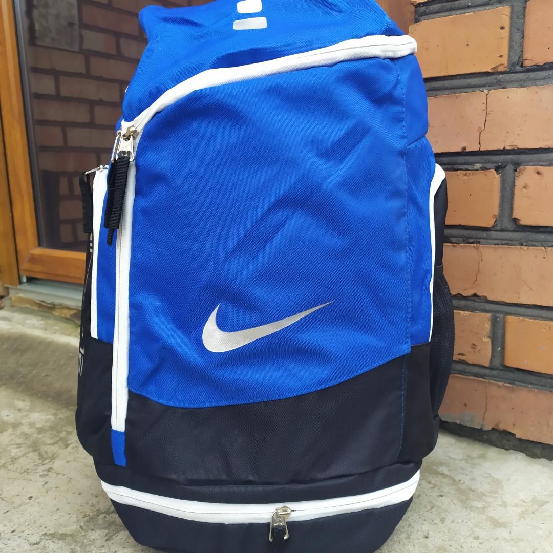 (БРАК) Баскетбольный рюкзак с карманом для мяча Nike Elite Air Max Blue