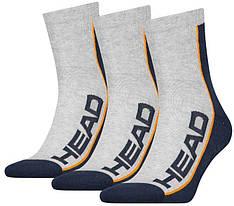 Шкарпетки високі Head Performance Short Crew 3-pack gray/blue