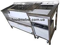 Барная станция профессиональная FoodMebel 1600х600х850 мм
