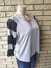Кофточка, блузка женская нарядная (есть большие размеры,) EXCLUSIVE, фото 3
