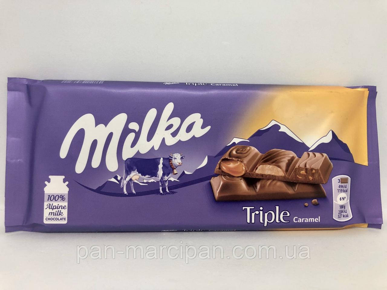 Шоколад Milka Triple Caramel 90 г