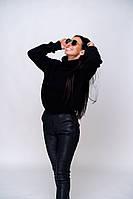 Женский вязаный свитер под горло очень теплый акрил/шерсть.размер оверсайз, фото 1