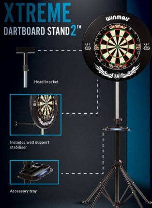 Фирменный набор Winmau мишень сизаль Blade5 + стойка для мишени + дротики, фото 2