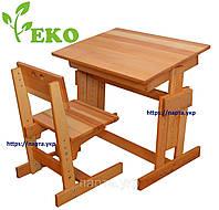 Комплект парта и стул из дерева бук, эко, фото 1