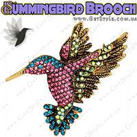 """Брошь Колибри - """"Hummingbird Brooch"""" подарочная упаковка"""