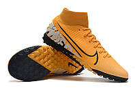 Футбольные сороконожки Nike Mercurial Superfly VII Academy TF Laser Orange/White/Black, фото 1