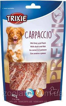 Лакомство Trixie для собак утка с рыбой   Trixie Carpaccio 80 грамм