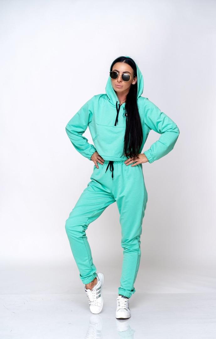 Женский теплый спортивный костюм батник и штаны двунить размер: SM, ML.