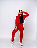 Женский теплый спортивный костюм батник и штаны двунить размер: SM, ML., фото 7