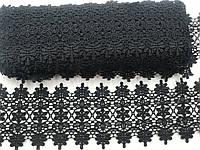 Кружево хб  цвет черный 9.5см 9 м в рулоне