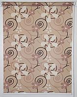 Готовые рулонные шторы Ткань Квиты Коричневый