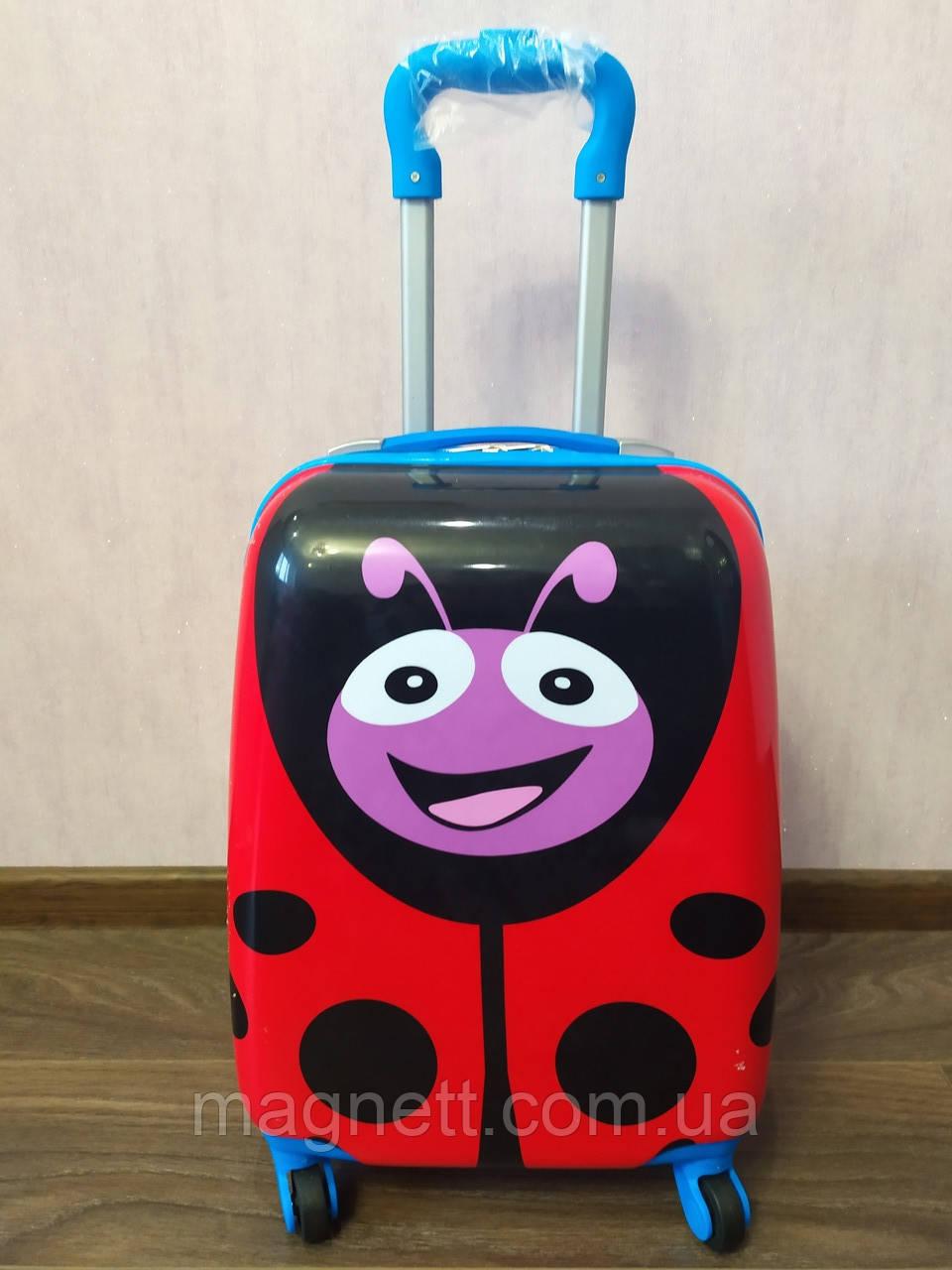 """Детский чемодан на 4 колесах """" Божья Коровка"""" 45*31*21"""
