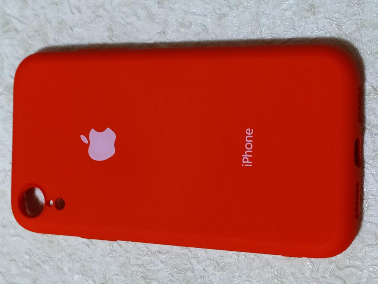 Накладка   Silicon Cover full   для  iPhone XR 6.1   (красный) Copy