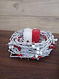 Композиція Новорічна зі свічкою на стіл, Різдвяна свічка. Підсвічник Новорічний, Різдвяний зі свічкою., фото 4