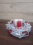 Композиція Новорічна зі свічкою на стіл, Різдвяна свічка. Підсвічник Новорічний, Різдвяний зі свічкою., фото 2