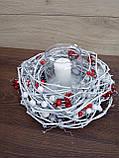 Композиція Новорічна зі свічкою на стіл, Різдвяна свічка. Підсвічник Новорічний, Різдвяний зі свічкою., фото 8